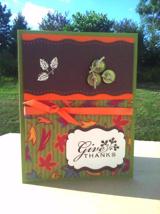 Thanksgiving handmade card