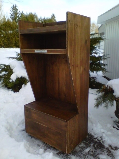 wooden hockey locker