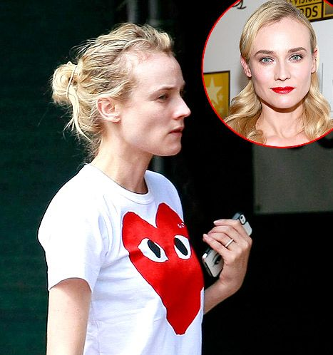 Diane Kruger looks gorgeous without makeup!