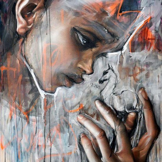 Herakut Street art, graffiti