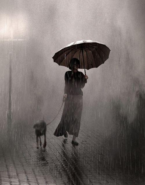 Raining on two