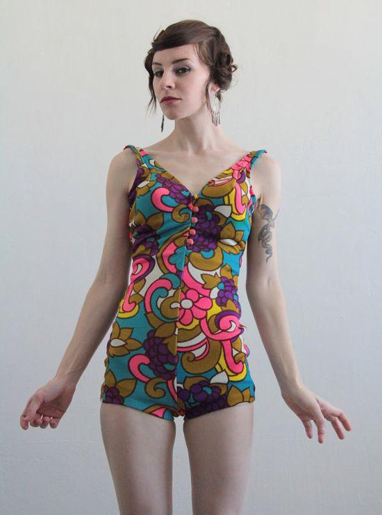 Vintage Jantzen Swimsuit with the best pattern.
