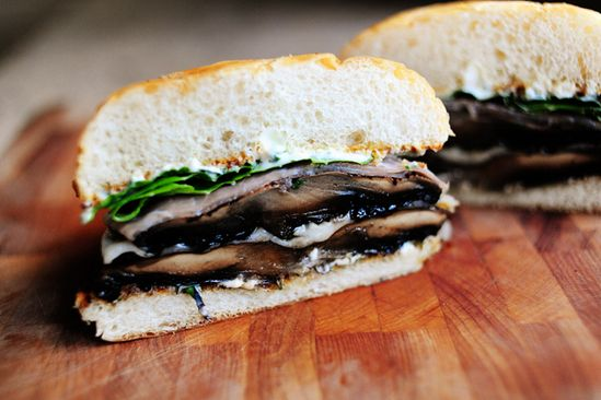 The Pioneer Woman's Mushroom Burger