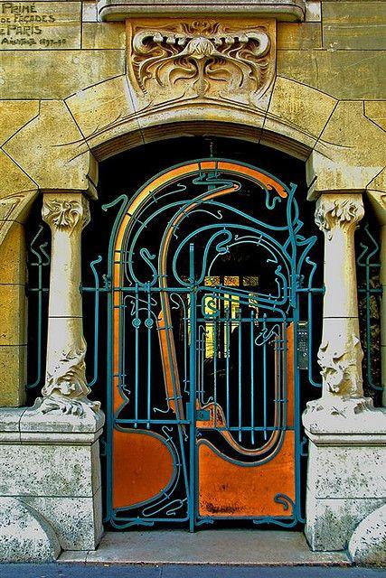 Parisian door art nouveau