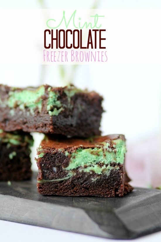 mint freezer brownies...perfect little chocolate fix!! #brownies