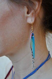 Handmade by Carolyn:   fishing lure jewellery blog