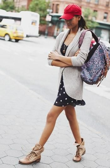 Throw a cardigan over a summery dress for the perfect transition into fall!