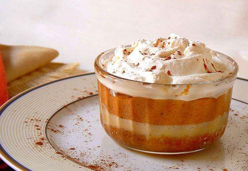 Fabulously autumnal Pumpkin Torte Trifle. #pumpkin #fall #autumn #food #trifle #cake #pudding #torte #Halloween #Thanksgiving #baking #dessert