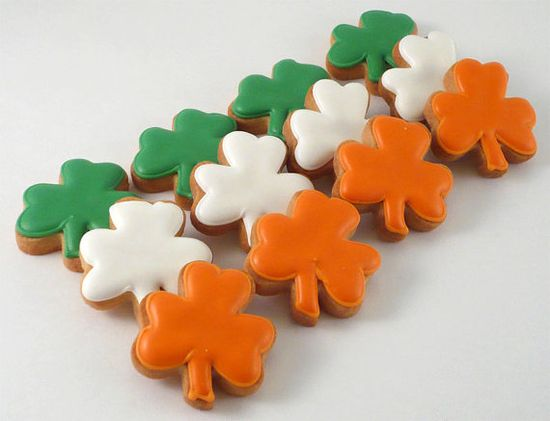 Decorated Cookies  St Patrick's Day  Small Shamrocks by katieduran, $11.00