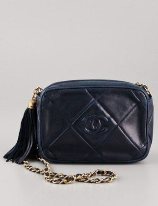 50 Dream Handbags: WGACA Vintage Chanel quilted cc shoulder bag, $2,970 #handbags, #handbags galore, #purse, #shoulder bag, #evening bag, #designer bags, #valentino bags, #party bags, #Chanel bags