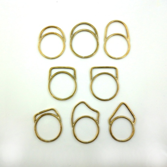 ONE Stacking Ring: Minimal, architectural, elegant every day rings in bronze..