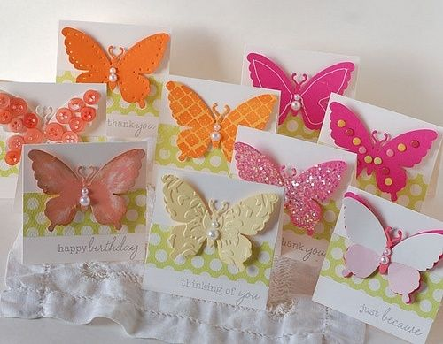 Mini Note Cards. Love the sparkle ones!