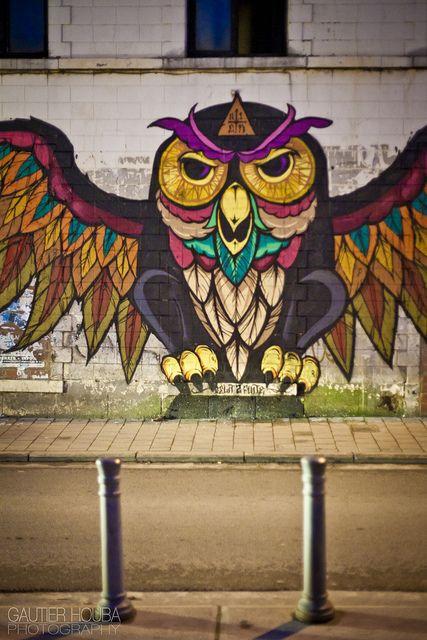 Aien by Gautier Houba, Brussels #painting #graffiti #arteurbana #streetart #urbanart #grafite