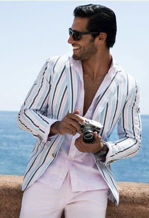 Epitome of summer 2013. Men suit. Men fashion