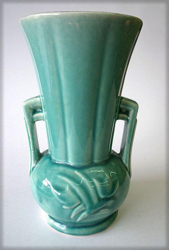 Aqua 1940s McCoy Vase