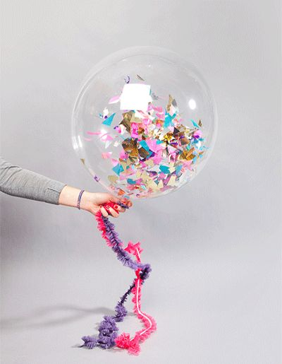 Make your own confetti balloons!