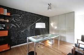 Office Design with Chalkboard Wall