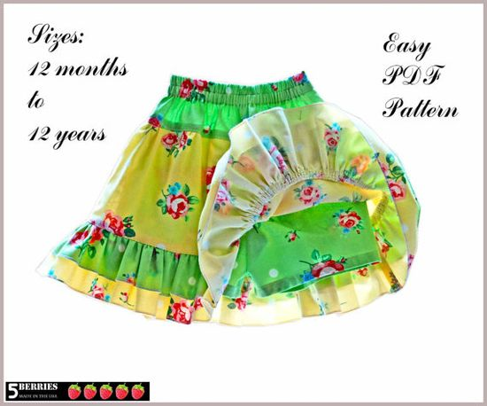 Isabella+Twirl+SKORT+Skirt+SHORTS+Girls+Sewing+Pattern+by+5Berries,+$6.90