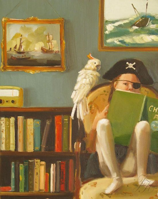 book reading pirate