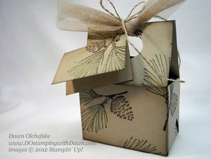 stampin up, dostamping, dawn olchefske, demonstrator, watercolor winter. mini treat box