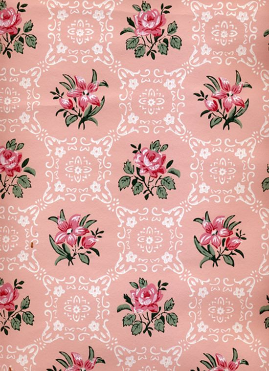 Rose Print Wallpaper