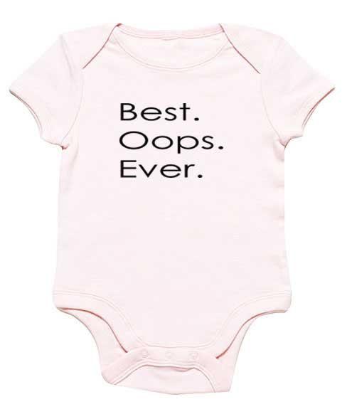 Funny Baby Onesie Best Oops Ever Pregnancy surprise via Etsy