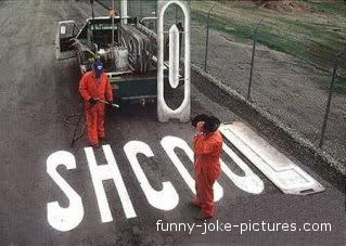 Funny School Spelling Road Sign Picture - -  Maybe they should go back to school....