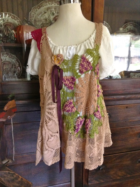 Lucy's Sonoma Grapes Crochet Top by Luv Lucy. $150.00, via Etsy.