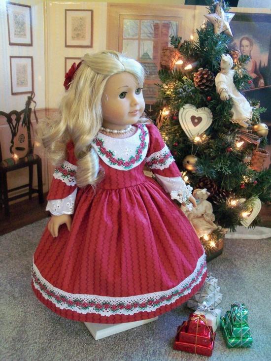 1850s Christmas dress