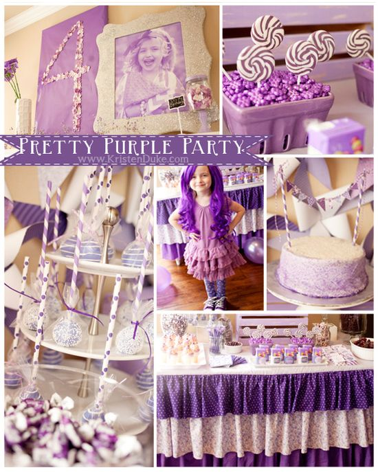 purple party - great ideas for any color-themed party