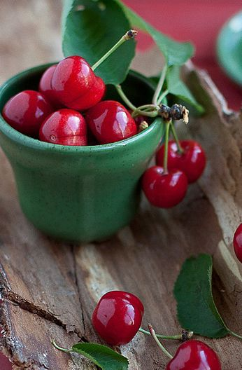 #cherries...red and green