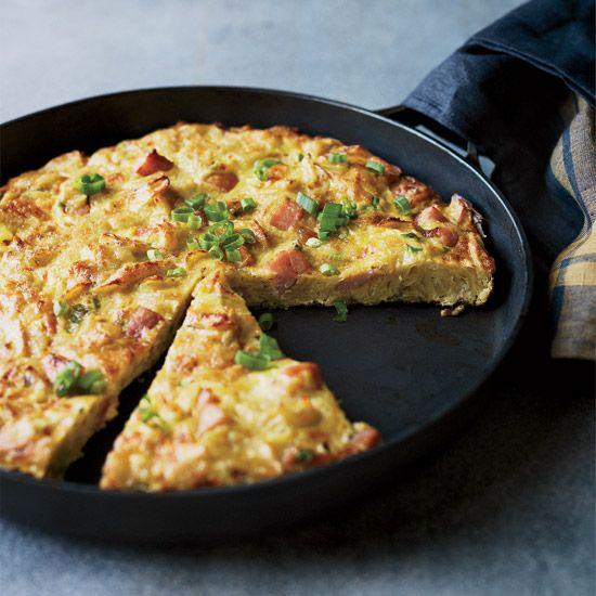 Ham and Potato Chip Tortilla // More Great Ham Recipes: www.foodandwine.c... #foodandwine