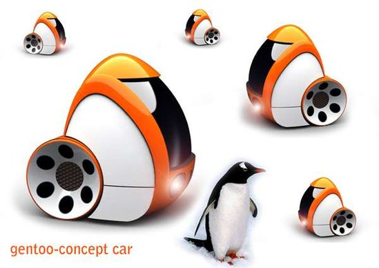 The Gentoo Concept Car is Like an Egg on Wheels #luggage trendhunter.com