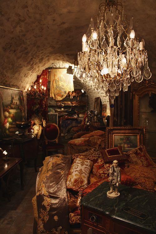 Interior of a shop, St. Paul de Vence, France, July 2012