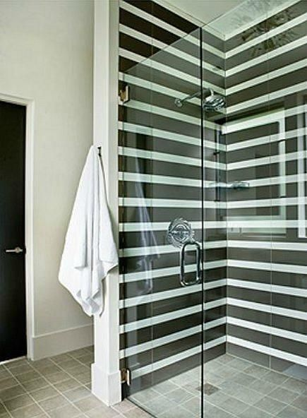 Stripes in the shower.