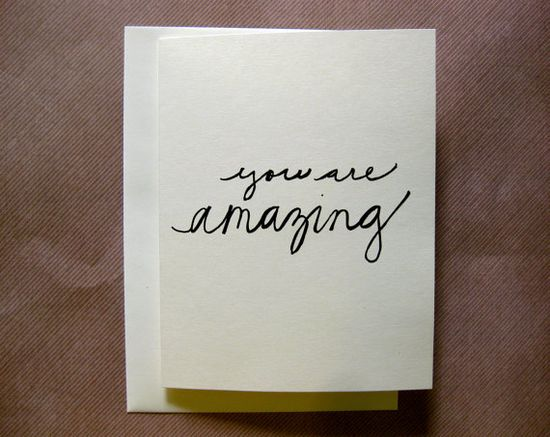 you are amazing - handmade card