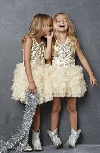 Ooh! La, La! Couture Dress & Peek Boots (Little Girls & Big Girls)