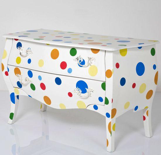 polka dot Painted Furniture