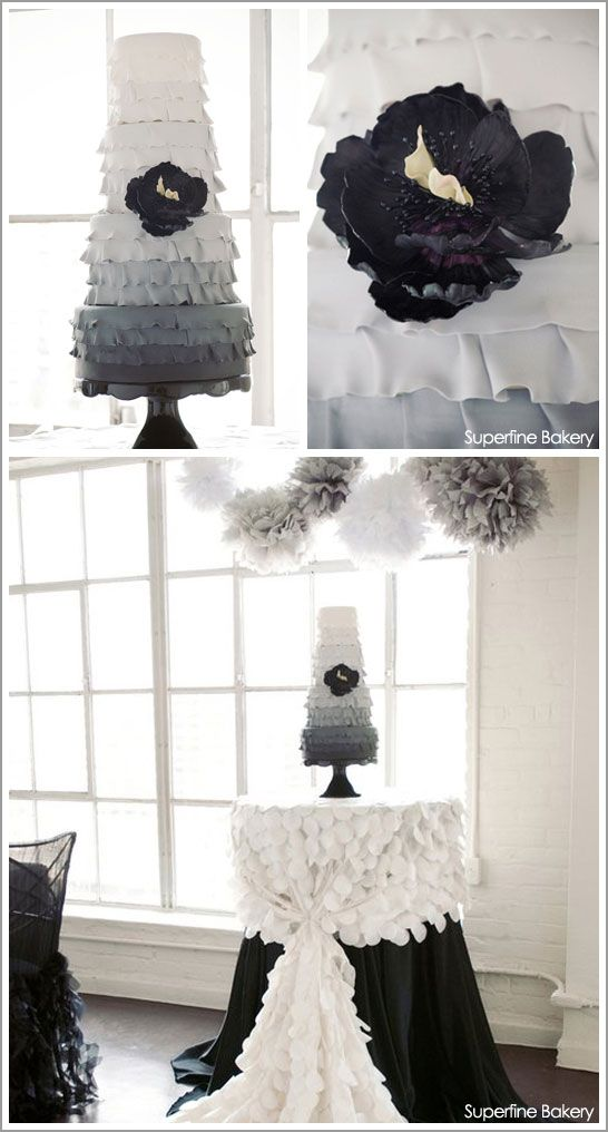 love the grey, love the ombre, love the ruffles ?