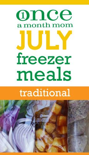 Traditional July 2012 Menu from @onceamonthmom