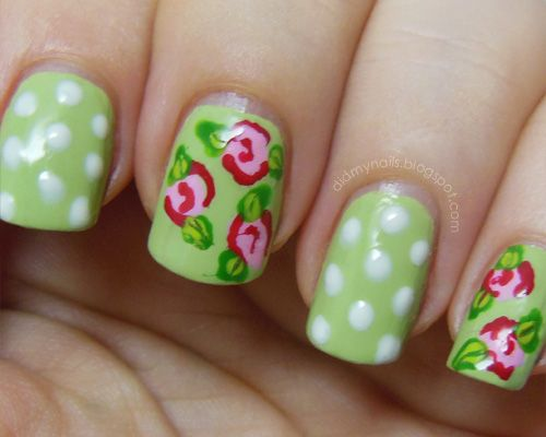 34 Beautiful Pastel  Nails Design With Flowers #nail #unhas #unha #nails #unhasdecoradas #nailart #gorgeous #fashion #stylish #lindo #cool #cute #floral #flores #flowers #pastel