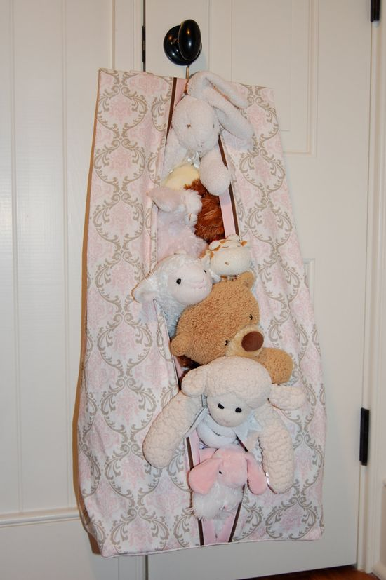 Use a diaper stacker for stuffed animal storage after the kid is potty trained.