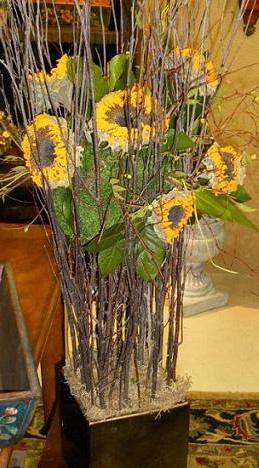 Wedding Decorations Using Sunflowers