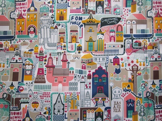 waterproof fabric - russian doll travels the world
