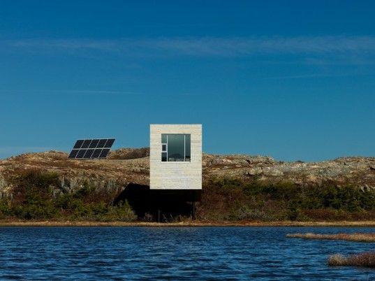 Bridge Studio is a Solar-Powered Artist Retreat on Fogo Island, Canada designed by Saunders Architecture.