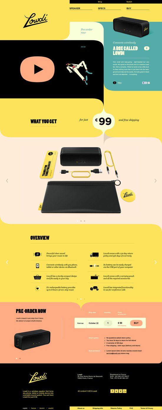 A box called Lowdi / Momkai  Beautiful Flat UI Design  yellow, retro