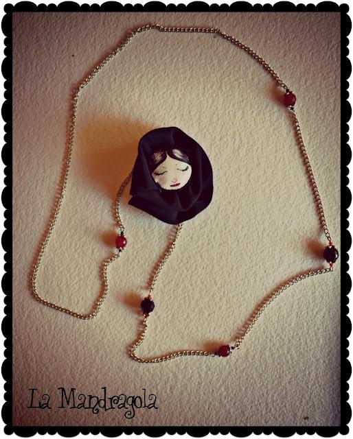 #necklace #handmade #fabric #flower
