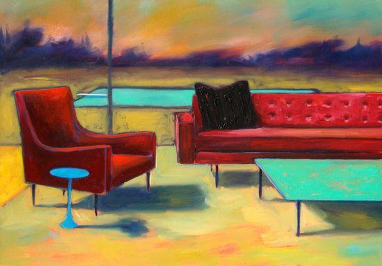 "Saatchi Online Artist: Ian Mclean; Oil, 2011, Painting ""Holding Area"""