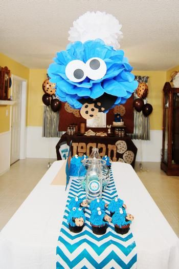 Hostess with the Mostess® - Cookie Monster Cookies and Milk First Birthday Party!