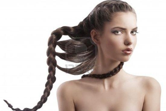 Braid hair style.